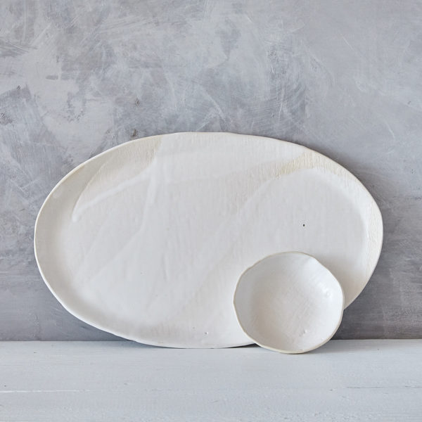 stoneware plate by marie helene clauzon